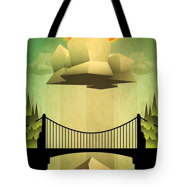 Tote Bag featuring the mixed media Sacred Sun Shower by Milton Thompson