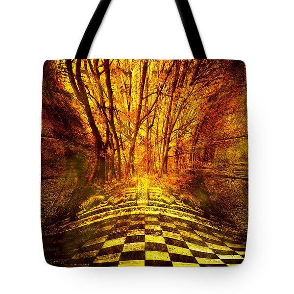 Sacred Temple Of The Trees Tote Bag by Jenny Rainbow