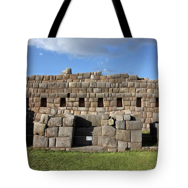 Tote Bag featuring the photograph Sacsaywaman Cusco, Peru by Aidan Moran