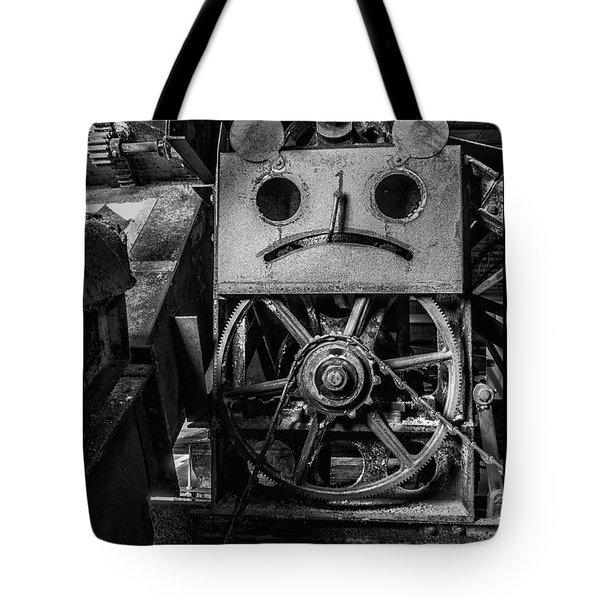 Sad Abandoned Machinery Tote Bag by Darleen Stry