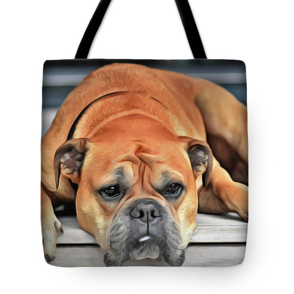 Tote Bag featuring the painting Sad Boy by Harry Warrick