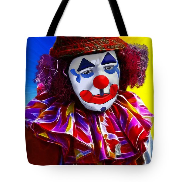 Sad Clown Tote Bag by Methune Hively