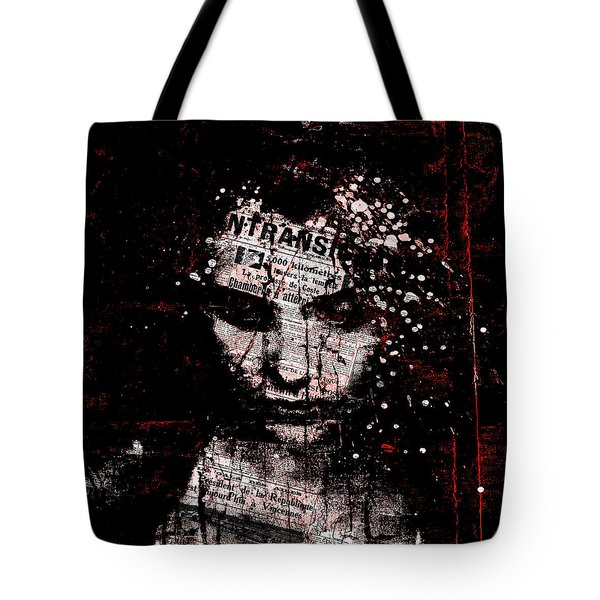 Tote Bag featuring the digital art Sad News by Marian Voicu