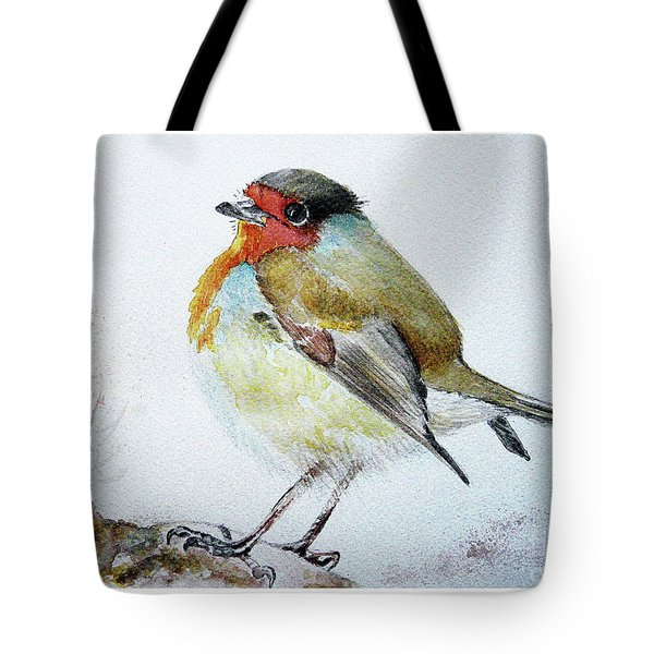 Sad Robin Tote Bag by Jasna Dragun