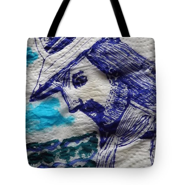 Tote Bag featuring the painting Sad Sailor by Don Koester