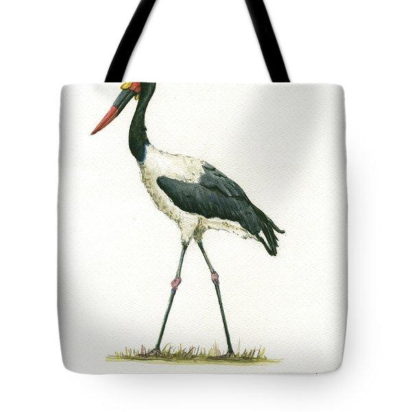 Saddle Billed Stork Tote Bag