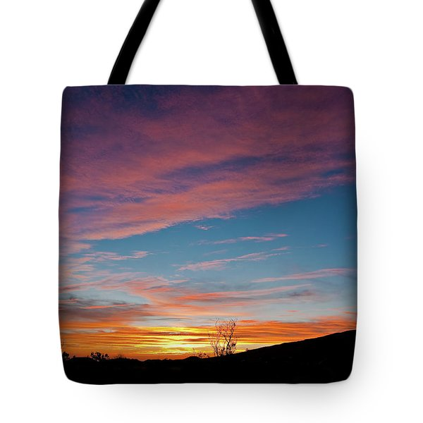 Saddle Road Sunset Tote Bag
