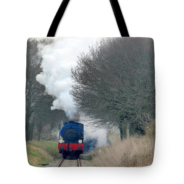 Saddle-tank Locomotive Puffing Uphill Tote Bag
