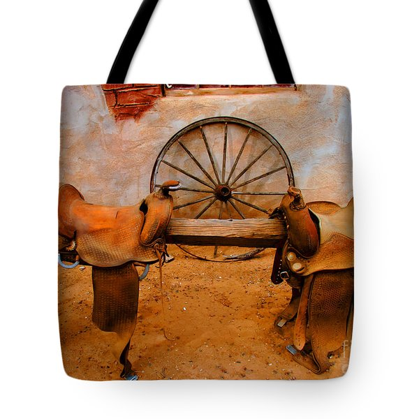 Saddle Town Tote Bag