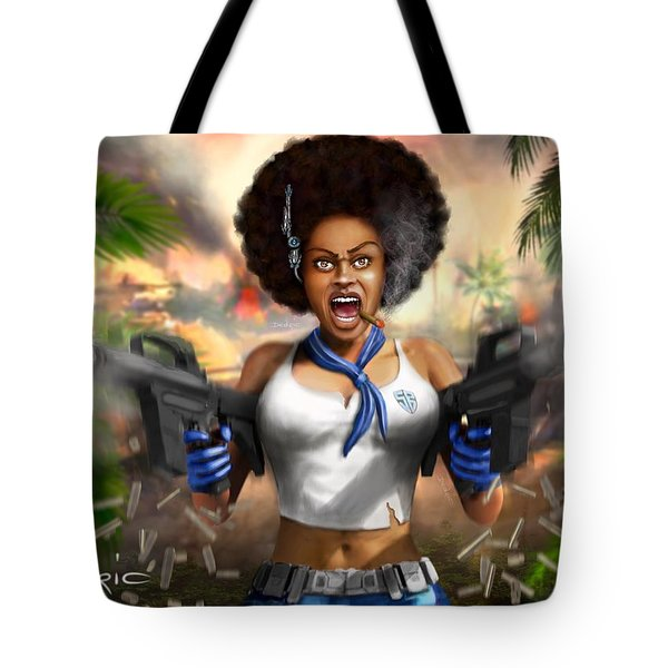 Tote Bag featuring the digital art Safari Blue by Dedric Artlove W