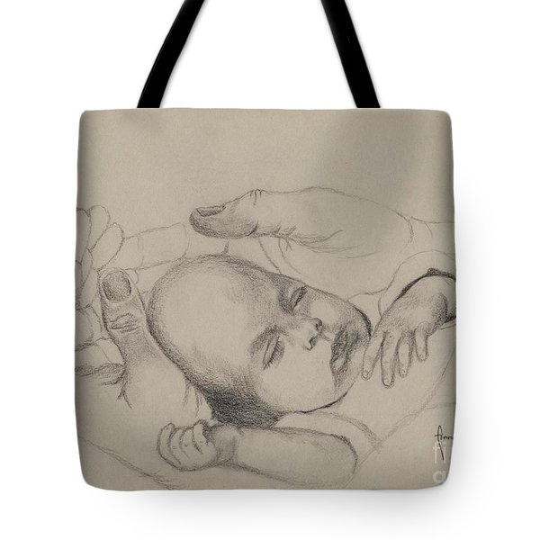 Tote Bag featuring the drawing Safe by Annemeet Hasidi- van der Leij