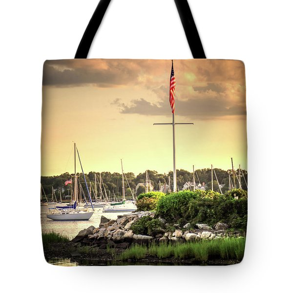 Tote Bag featuring the photograph Safe Harbor Bristol Ri by Tom Prendergast