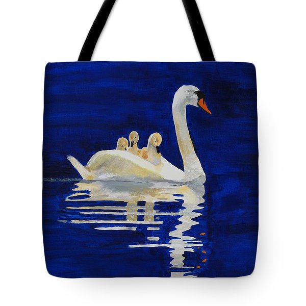Tote Bag featuring the painting Safe Harbor by Rodney Campbell
