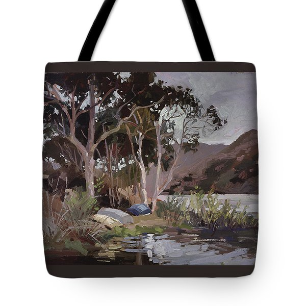 Safe Shelter  - Plein Air - Catalina Island Tote Bag
