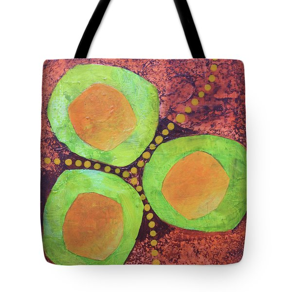 Tote Bag featuring the mixed media Safe Zones by April Burton
