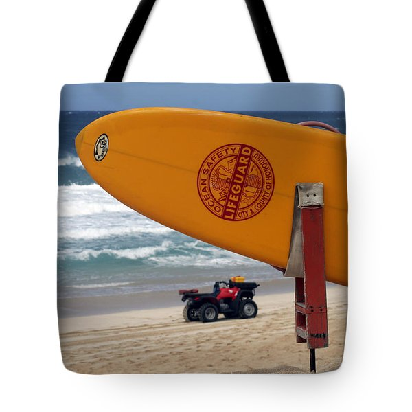 Safety First, Oahu Tote Bag