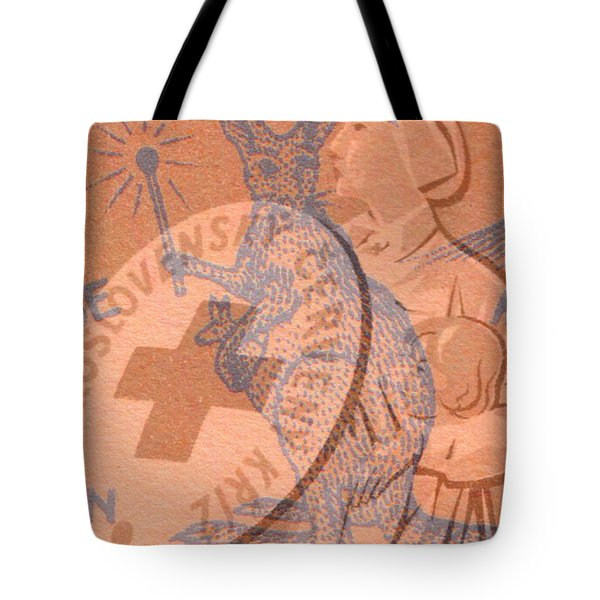 Tote Bag featuring the digital art Safety Kangaroo First by Nop Briex