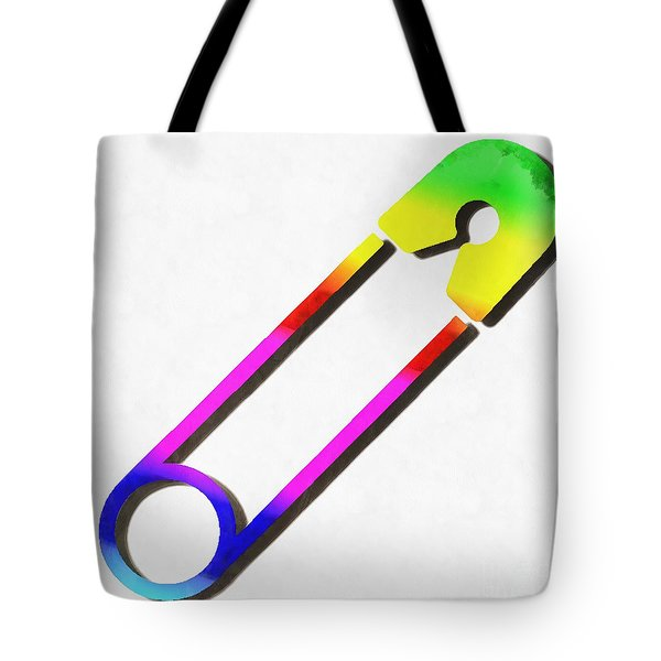 Safety Pin Rainbow Painting Tote Bag