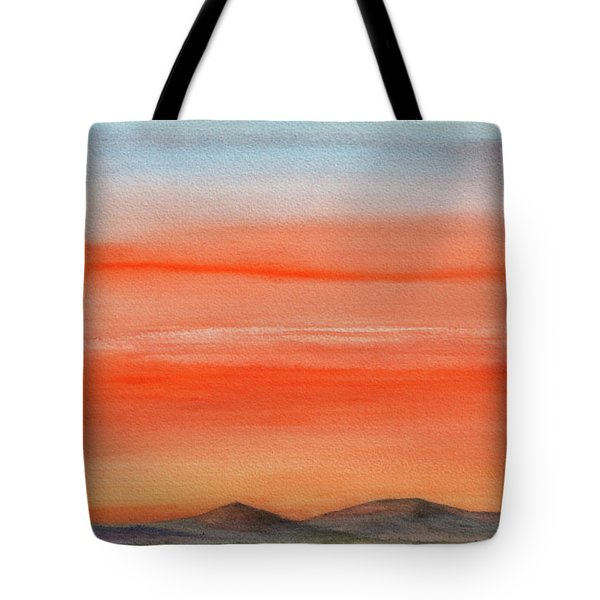 Saffron On The Mountains Tote Bag