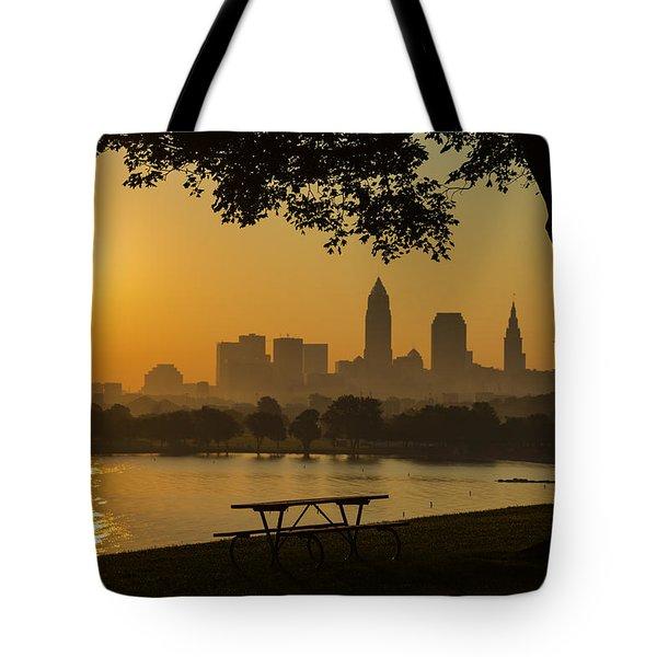 Saffron Sunrise Tote Bag
