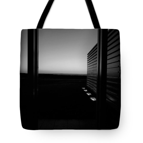 Tote Bag featuring the photograph Sag Harbor Sunset 2 In Black And White by Rob Hans
