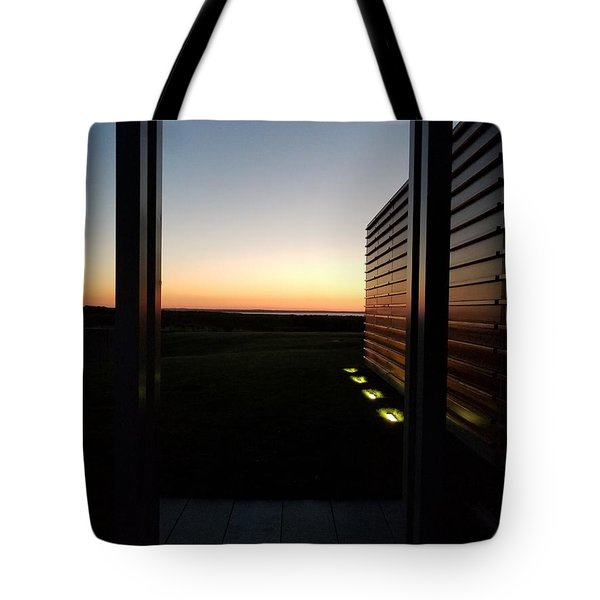 Tote Bag featuring the photograph Sag Harbor Sunset 2 by Rob Hans