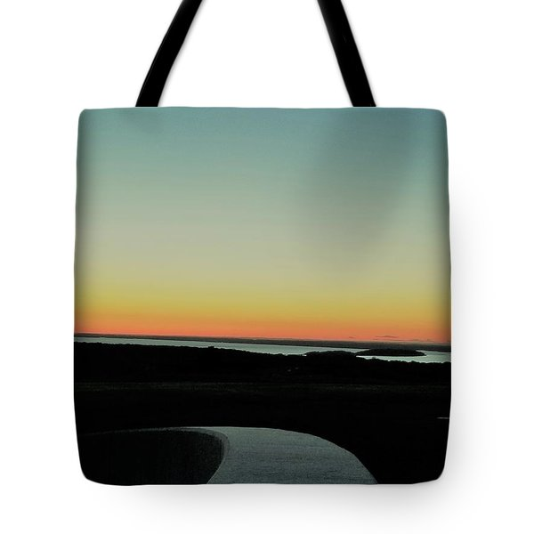 Tote Bag featuring the photograph Sag Harbor Sunset 3 In Black And White by Rob Hans