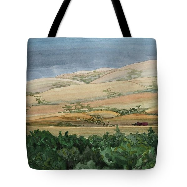 Sage Brush Field Tote Bag by Bethany Lee