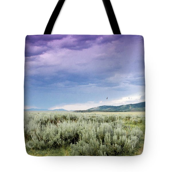 Tote Bag featuring the photograph Sage Fields  by Dawn Romine