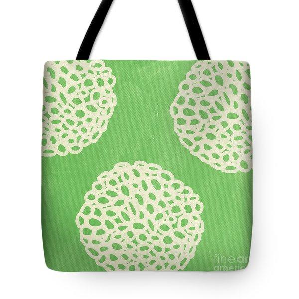 Sage Garden Bloom Tote Bag by Linda Woods