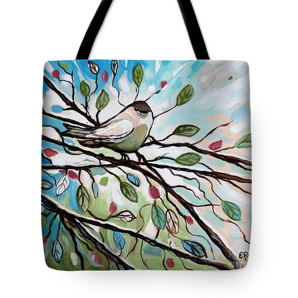 Sage Glimmering Songbird  Tote Bag