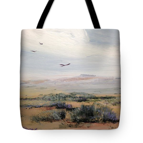 Tote Bag featuring the painting Sageland by Helen Harris