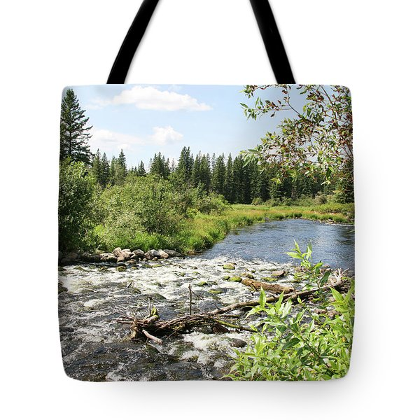 Saginas Lake Tote Bag