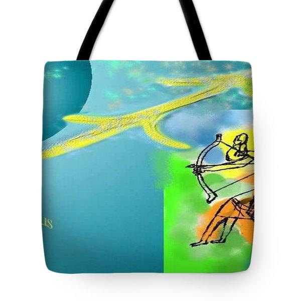 Tote Bag featuring the digital art Sagittarius by The Art of Alice Terrill