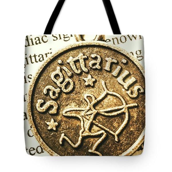 Sagittarius Astrology Design Tote Bag