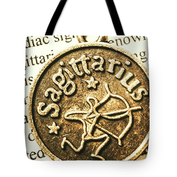 Tote Bag featuring the photograph Sagittarius Astrology Design by Jorgo Photography - Wall Art Gallery