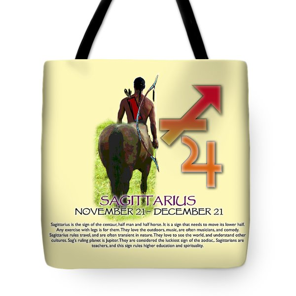 Sagittarius Sun Sign Tote Bag