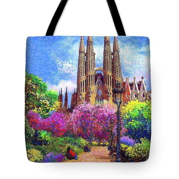 Sagrada Familia And Park,barcelona Tote Bag