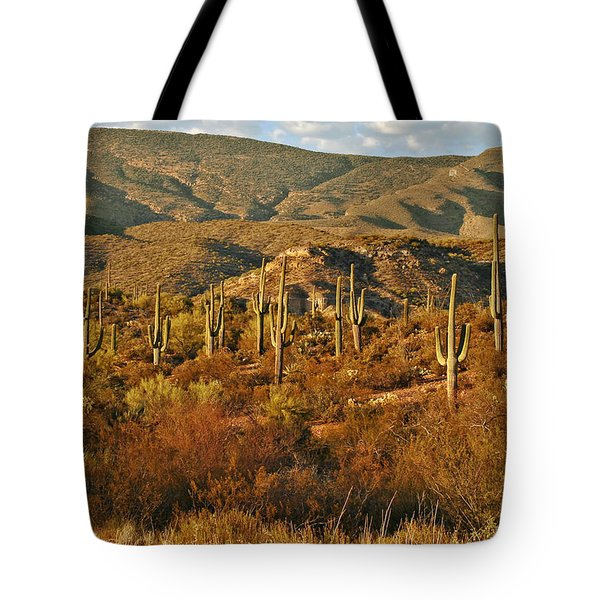 Saguaro Cactus - A Very Unusual Looking Tree Of The Desert Tote Bag by Christine Till