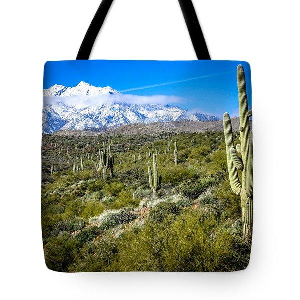 Saguaro Cactus In Arizona Tote Bag by Gregory Daley  PPSA