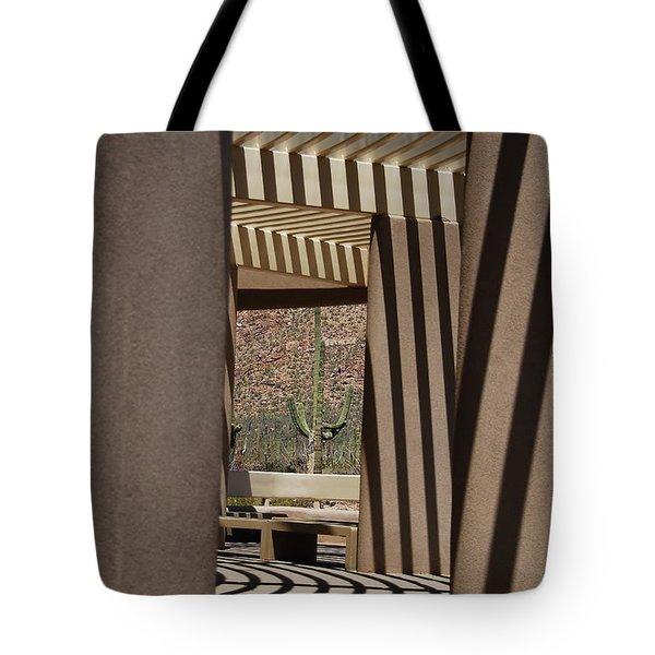 Saguaro National Park Tote Bag by Lois Bryan