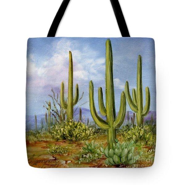 Saguaro Scene 1 Tote Bag by Summer Celeste