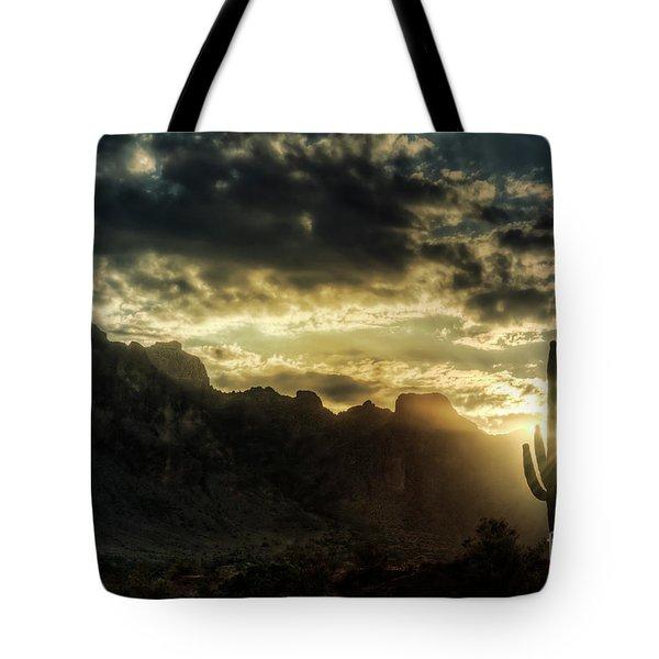 Saguaro Sunrise  Tote Bag by Saija  Lehtonen