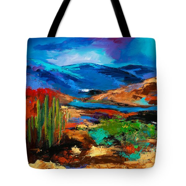 Saguaros Land Tote Bag by Elise Palmigiani