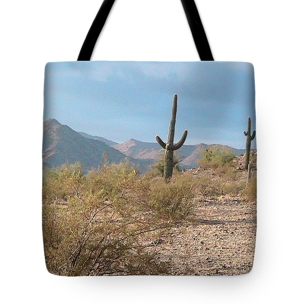 Saguaros On A Hillside Tote Bag