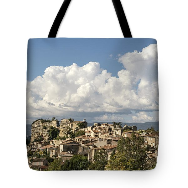 Tote Bag featuring the photograph Saignon Village Provence  by Juergen Held