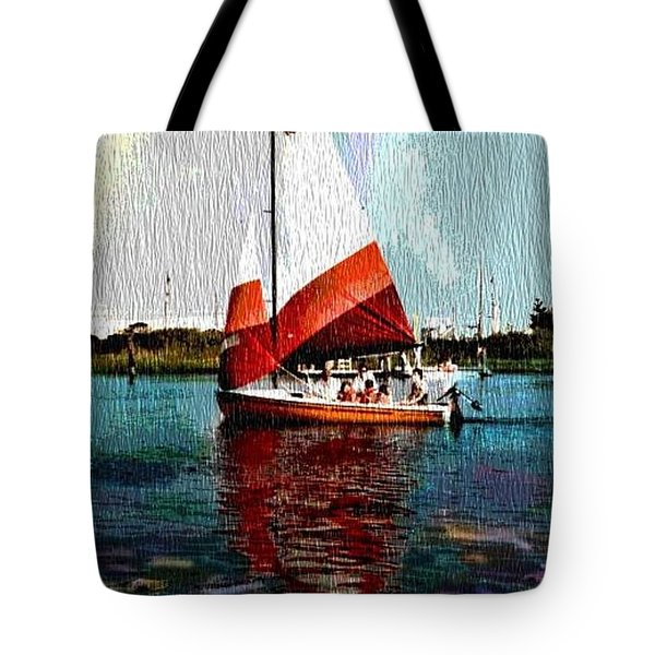 Sail Along On The Sea Tote Bag by Vickie G Buccini
