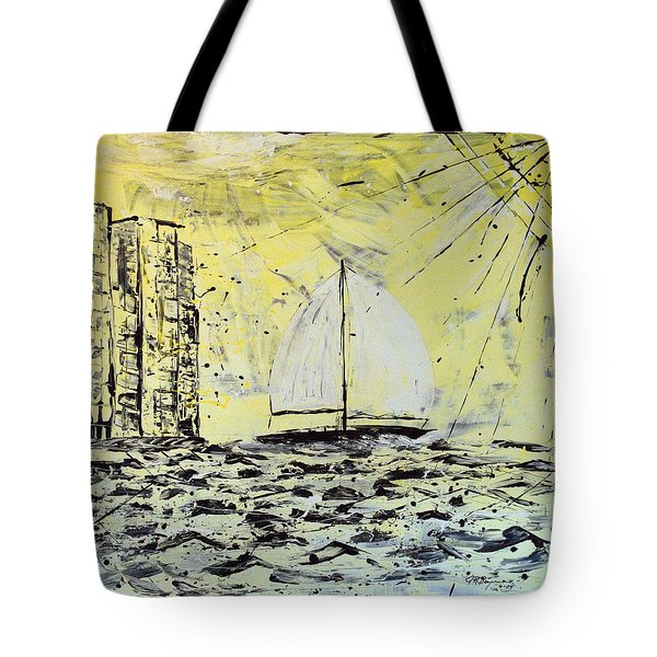 Sail And Sunrays Tote Bag by J R Seymour