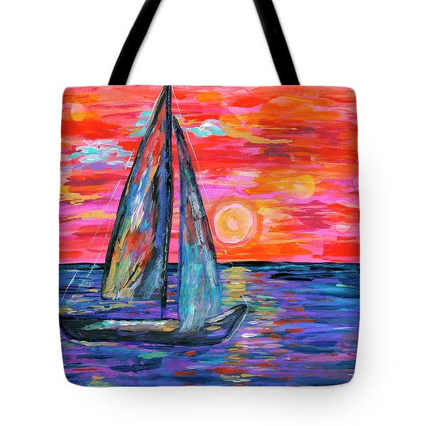 Sail At Dusk Tote Bag