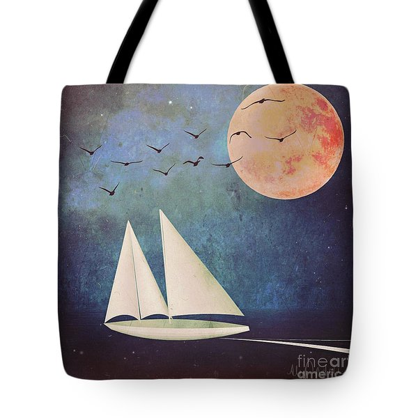 Tote Bag featuring the digital art Sail Away by Alexis Rotella